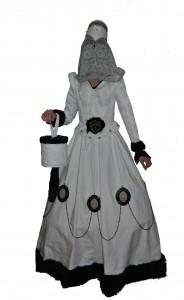 Tudor jurk compleet met accessoires.